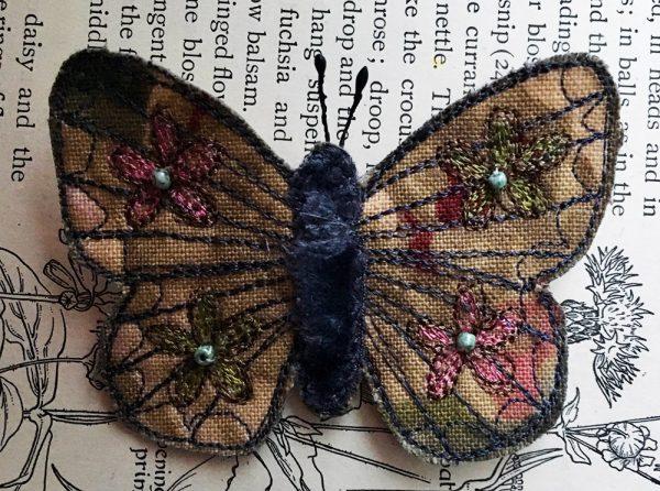 Autumn Butterfly Brooch