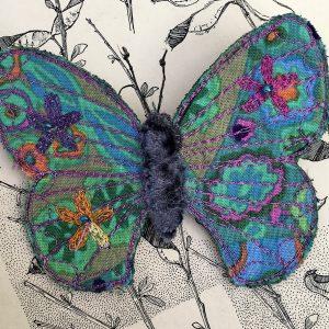 'Millefiore' Butterfly Brooch