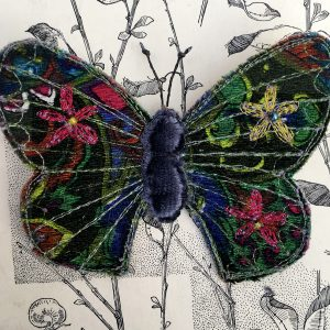 Paisley Bright Butterfly Brooch