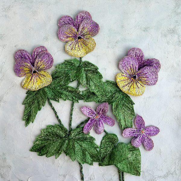 Violas and Violets (Detail)