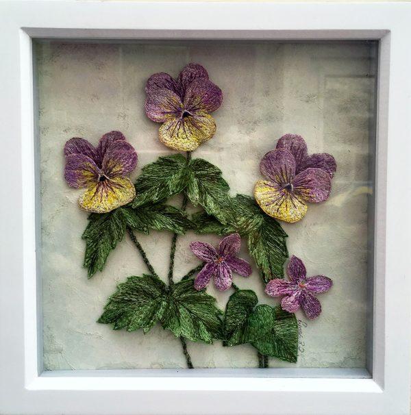 Violas and Violets (Frame)
