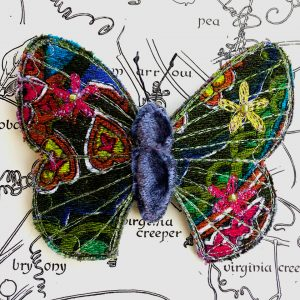 Paisley Bright Butterfly Brooch (Detail)