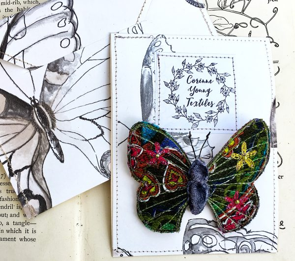 Paisley Bright Butterfly Brooch (Pouch)