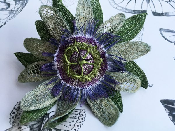 Dark Cream Passion Flower Stem