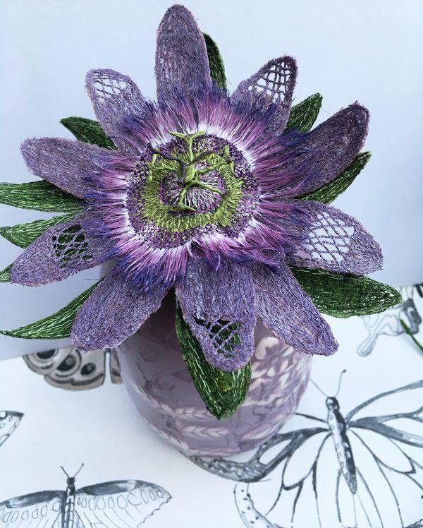 Mauve Passion Flower Stem
