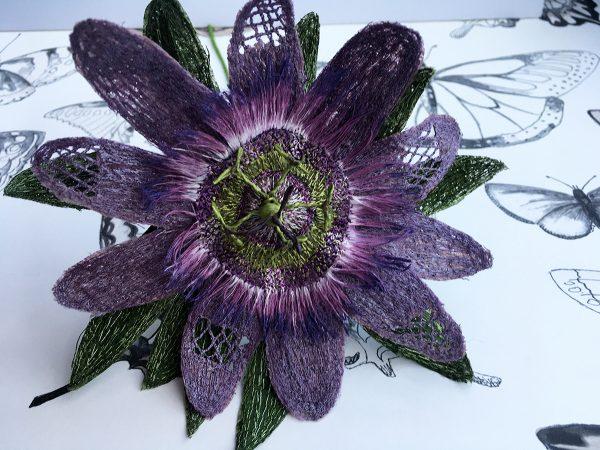 Mauve Passion Flower Stem (Detail)
