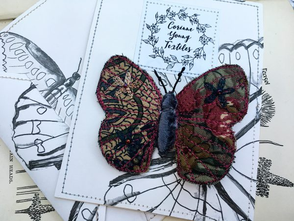Winter Floral Butterfly Brooch (Pouch)