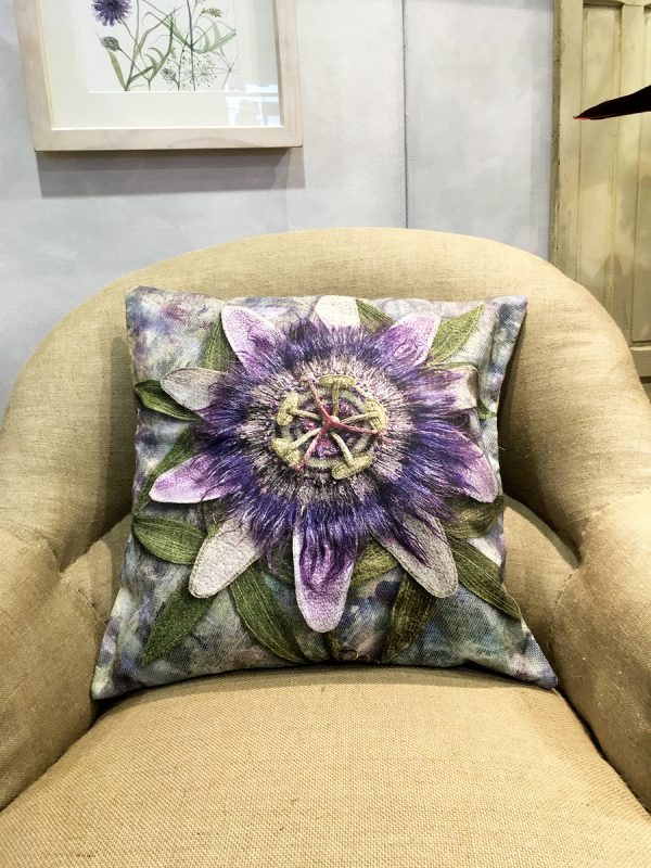 Passion Flower Cushion Cover
