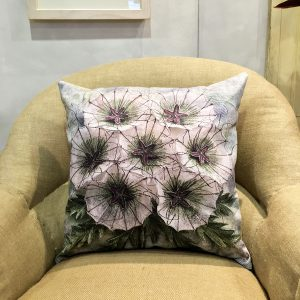 Scabious 'Paper Moon' Cushion Cover