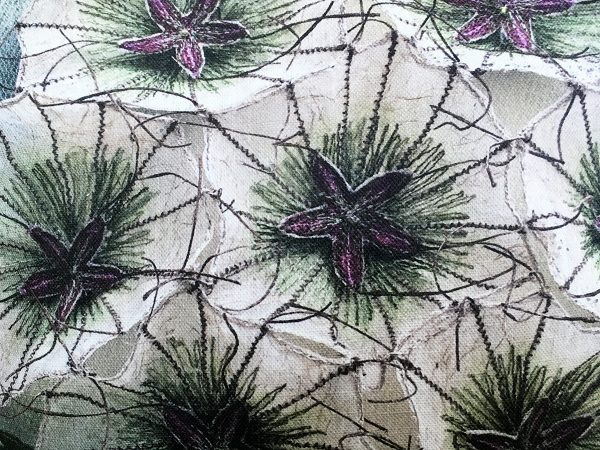 Scabious 'Paper Moon' Cushion Cover (Detail)