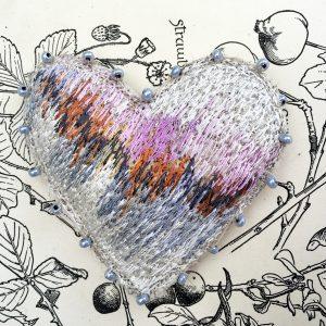 Coastal Heart Brooch (Detail)