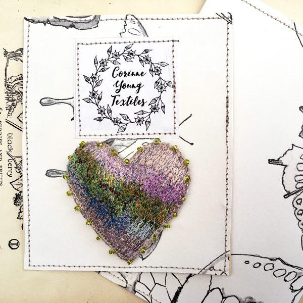 Garden Heart Brooch (Pouch)