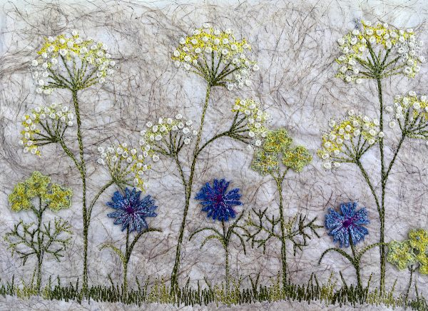 Cornflower and Lace Meadow Large (Detail)