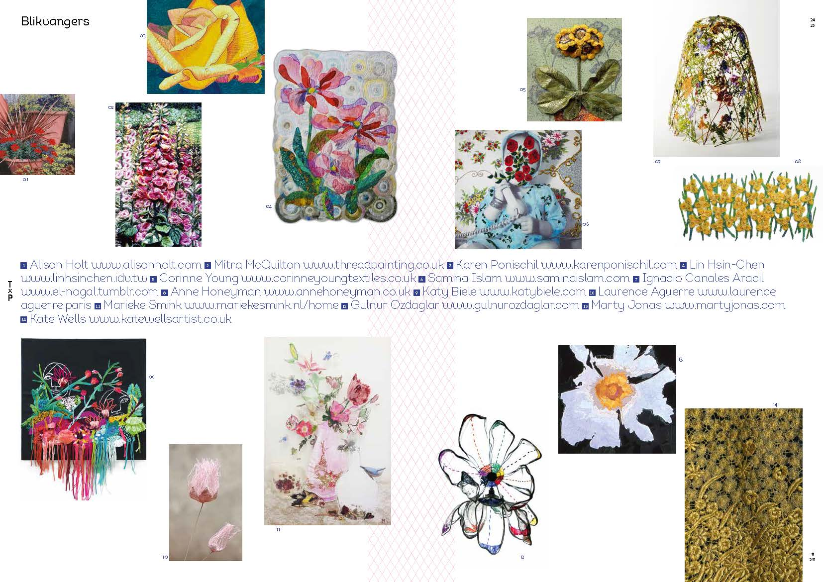 Feature in issue 251 ('Flowers') of Netherlands magazine Textiel Plus