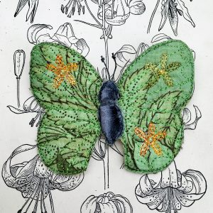 Forest Green Butterfly Brooch (Detail)