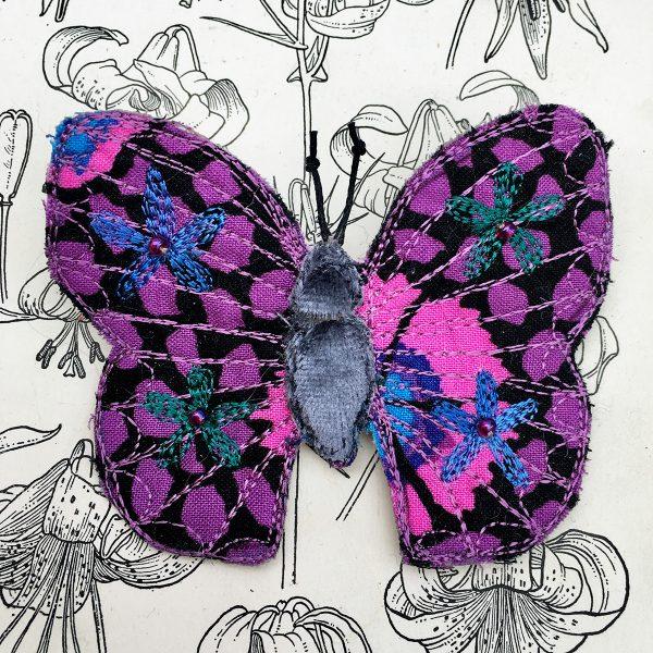 'Guinea Flower' Butterfly Brooch (Detail)