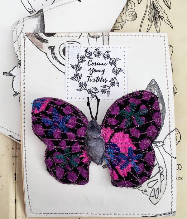 'Guinea Flower' Butterfly Brooch (Pouch)