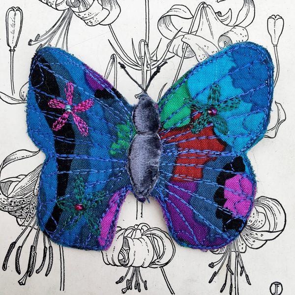 Sapphire Butterfly Brooch (Detail)