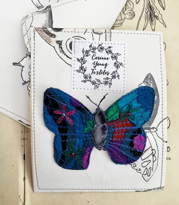 Sapphire Butterfly Brooch (Pouch)