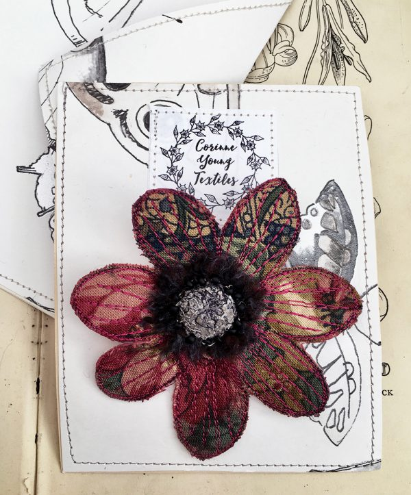 Winter Floral Anemone Flower Brooch (Pouch)