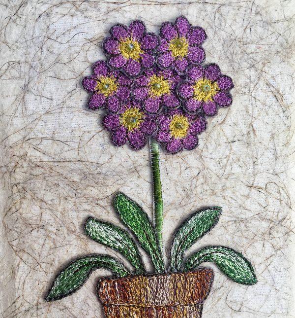 Lilac Auricula (Detail)