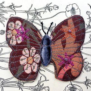 'Blackthorn' Butterfly Brooch (Detail)