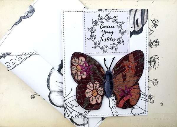 'Blackthorn' Butterfly Brooch (Pouch)
