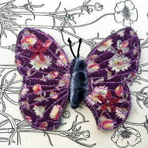 'Laura Ashley' Butterfly Brooch (Detail)