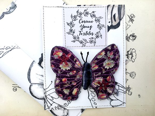 'Laura Ashley' Butterfly Brooch (Pouch)