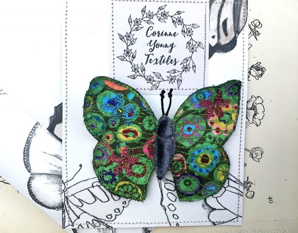 'Paperweight' Butterfly Brooch (Pouch)